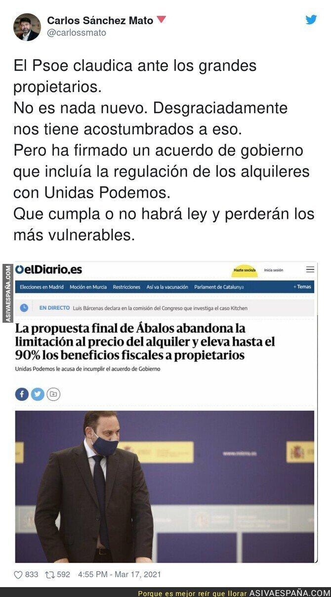653507 - Vergüenza absoluta del PSOE con el asunto de los alquileres