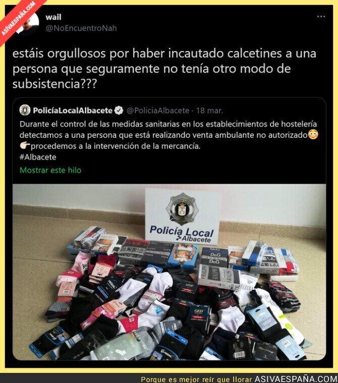 656266 - La gran incautación de la Policía Local de Albacete que es totalmente indignante