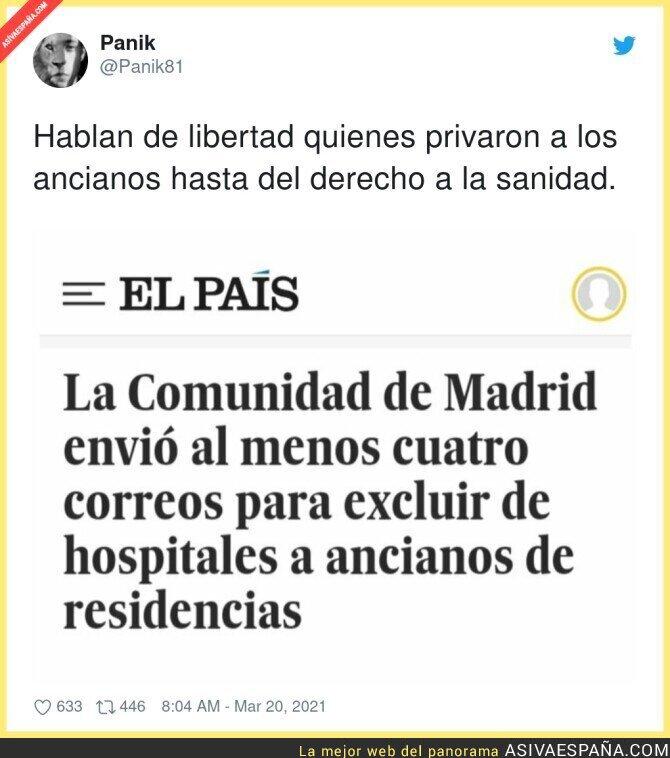 656983 - Es criminal lo de la Comunidad de Madrid durante la pandemia