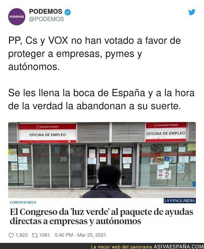 665869 - Los intereses de PP, Cs y VOX