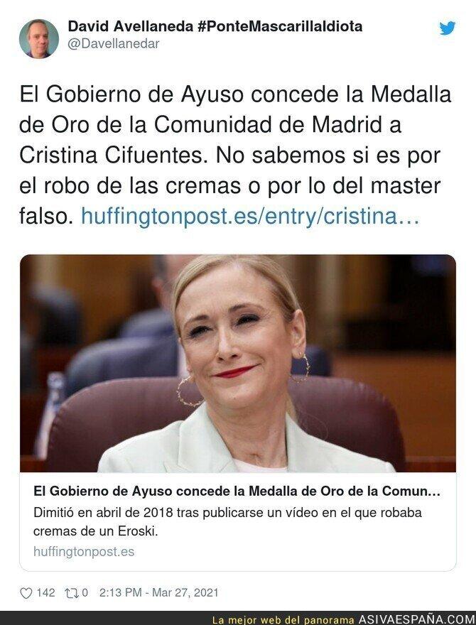 667857 - Vergüenza absoluto lo de Ayuso en Madrid ahora con Cristina Cifuentes