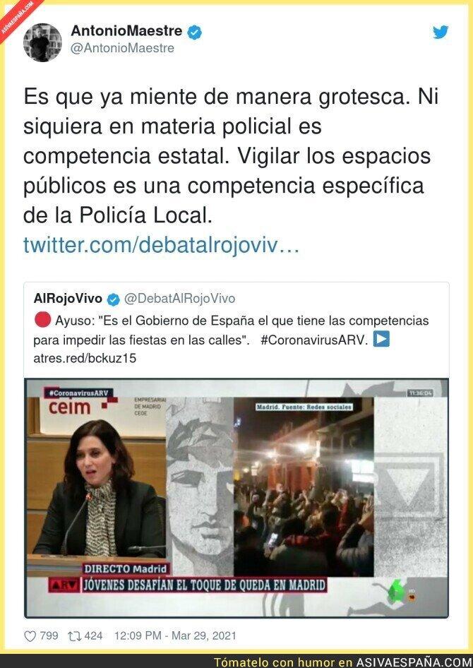 670421 - Isabel Díaz Ayuso y sus competencias que nunca tiene