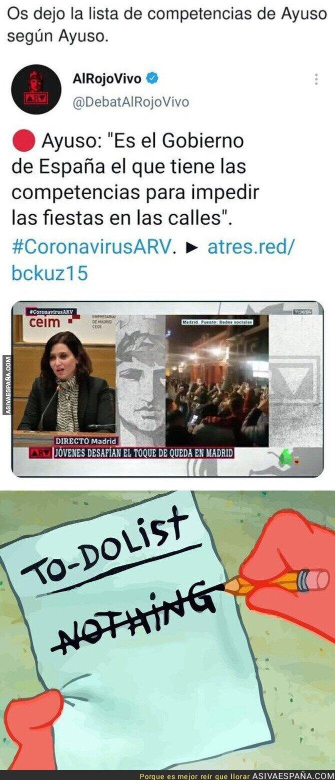 670522 - Isabel Díaz Ayuso no tiene competencias para nada