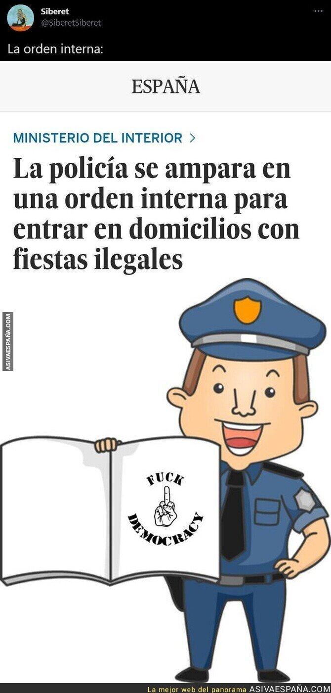671803 - La Policía y sus órdenes internas