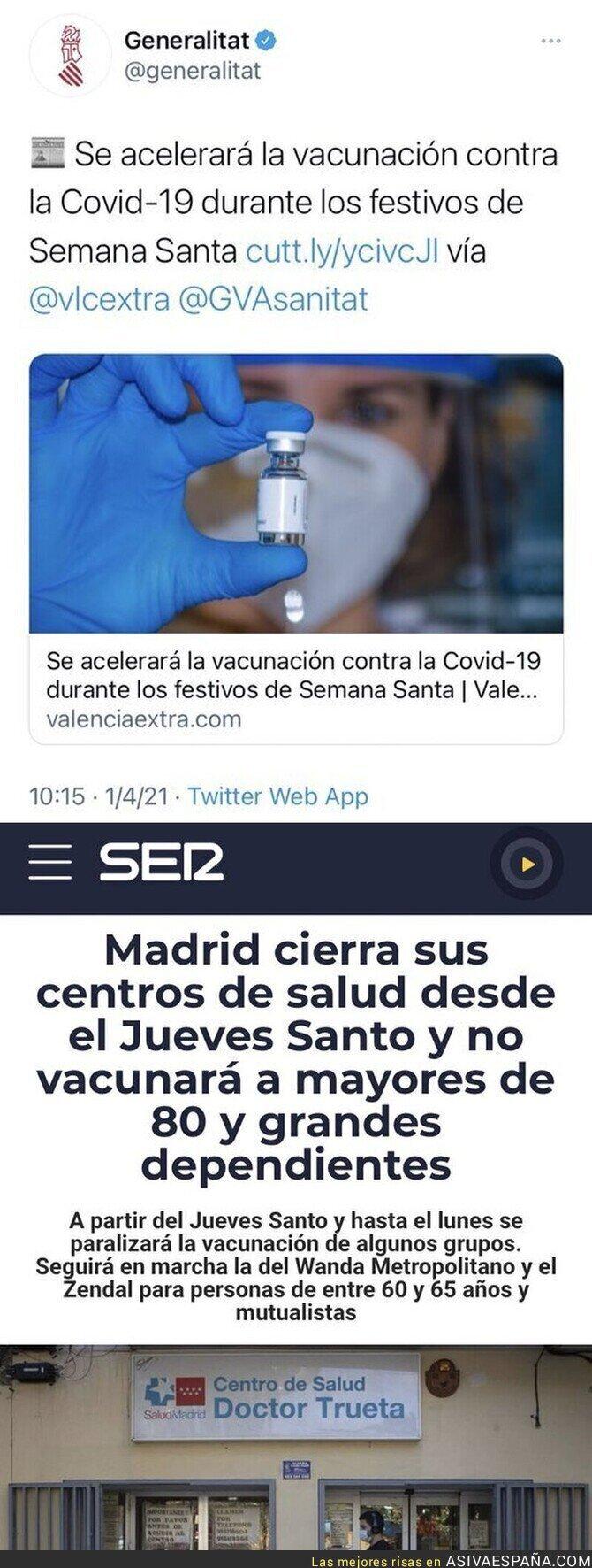 675828 - Diferencias entre Valencia y Madrid