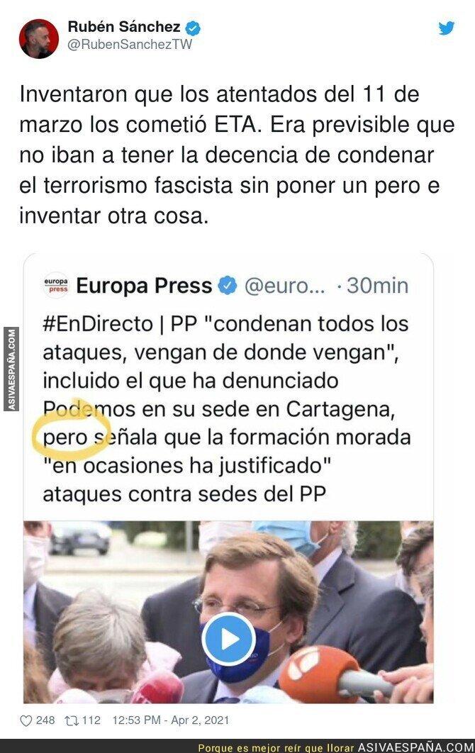 677612 - La lamentable condena del PP sobre el atentado terrorista a Podemos en Cartagena