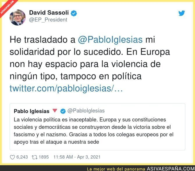 679681 - El Presidente del Parlamento Europeo se solidariza con Podemos