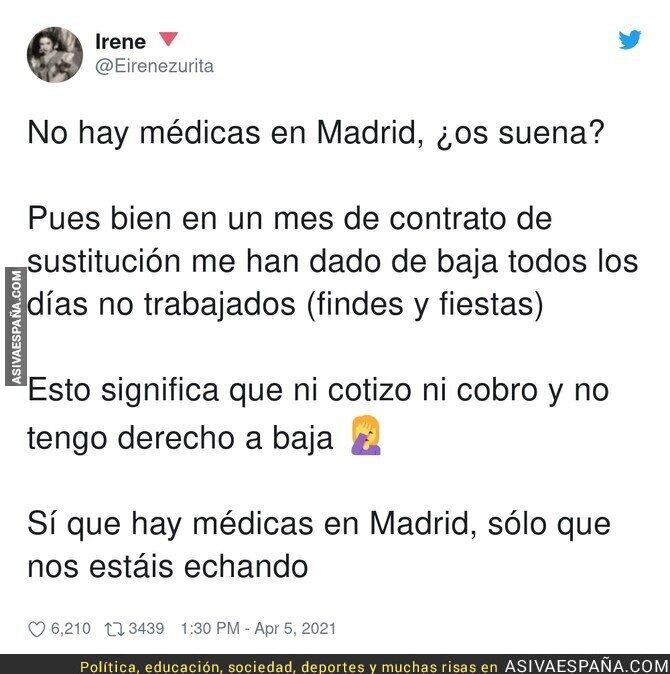684267 - Mala situación en Madrid con las médicas