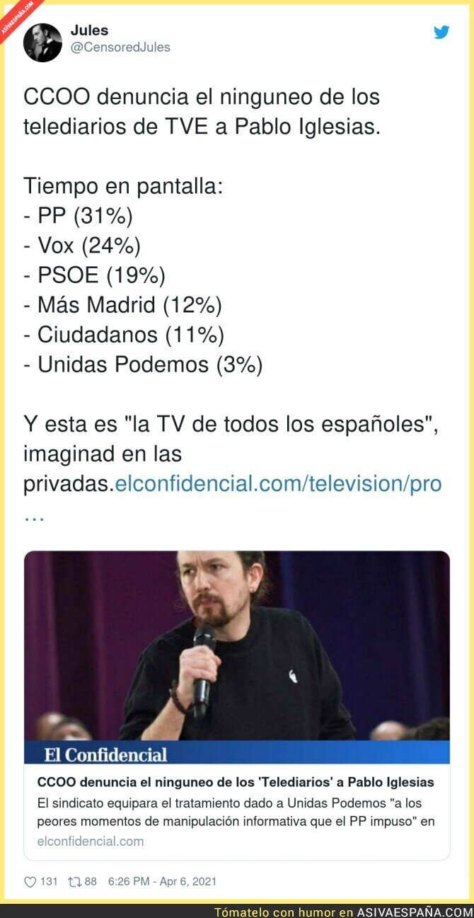684433 - TVE está haciendo el vacío a Unidas Podemos