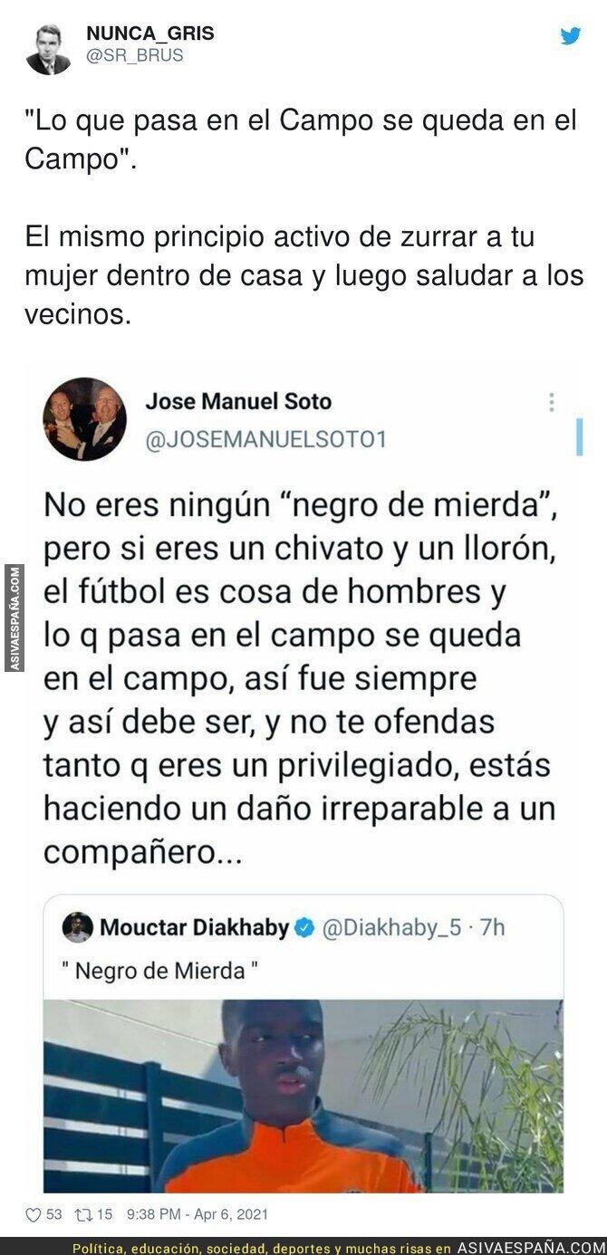 684821 - El lamentable mensaje de José Manuel Soto hacia Diakhaby