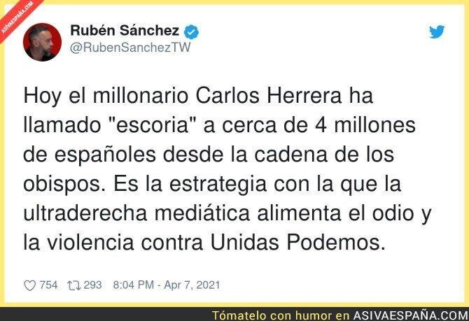 686363 - Carlos Herrera y el respeto por la gente que piensa diferente a él
