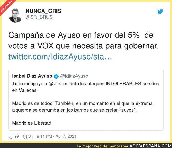 686769 - Isabel Díaz Ayuso ha mandado una solicitud de amistad a la gente de VOX