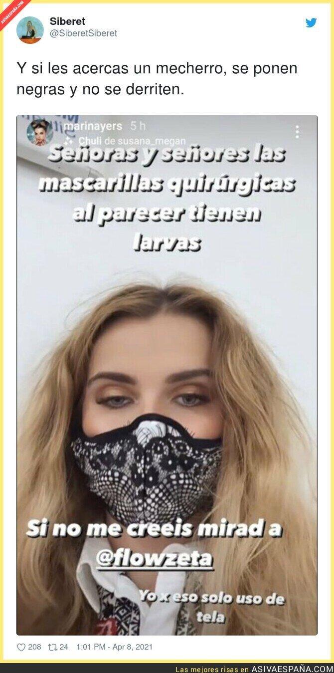 688410 - Marina Yers la vuelve a liar por decir esto sobre las mascarillas quirúrgicas