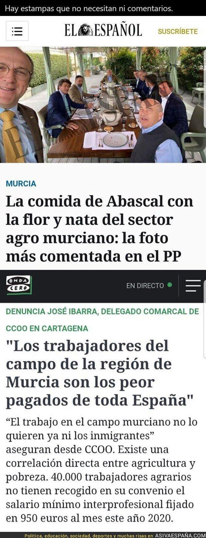 697542 - Sin comentarios lo de Abascal con los del campo en Murcia