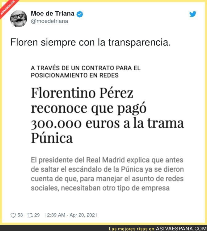 707153 - La transparencia que predica Florentino Pérez