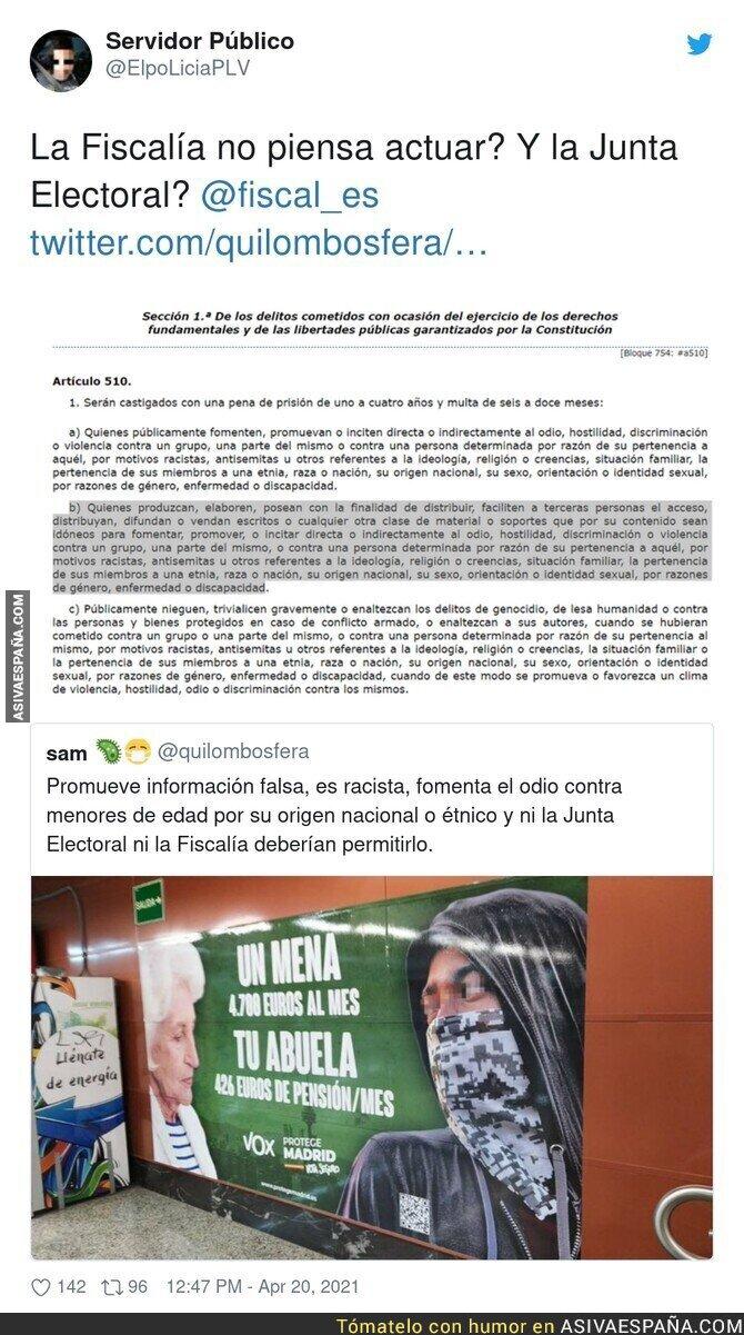 708012 - Muy grave lo de VOX en el Metro de Madrid