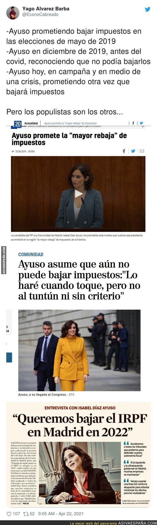 712232 - Isabel Díaz Ayuso y la bajada de impuestos
