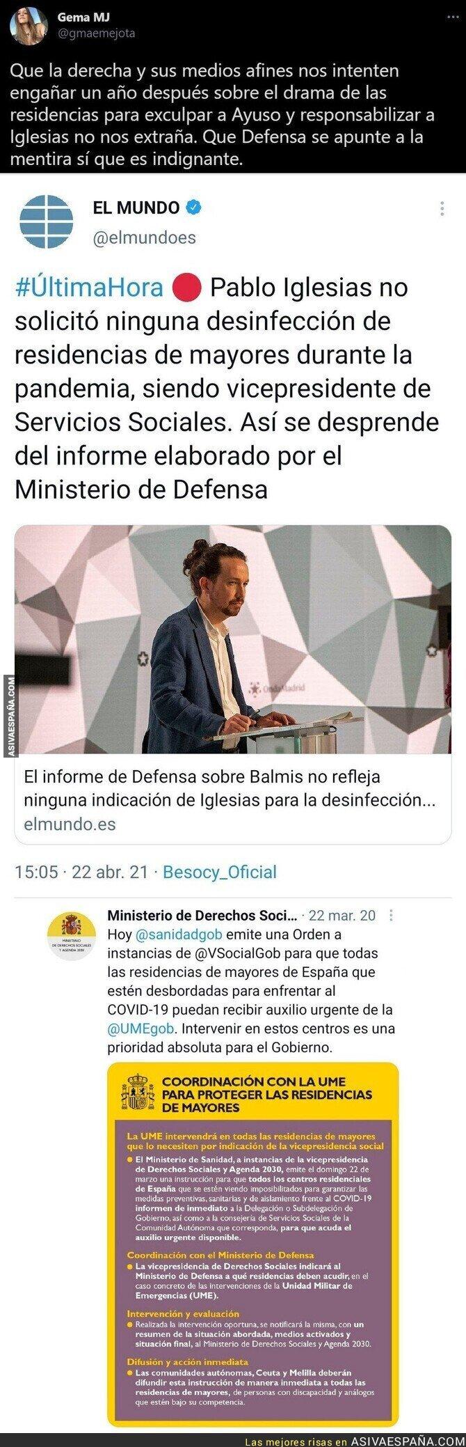 713048 - Así manipula descaradamente 'El Mundo' sobre Pablo Iglesias y las residencias de mayores