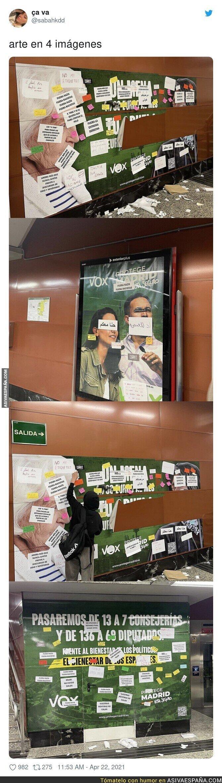 713209 - Así están troleando los carteles electorales de VOX