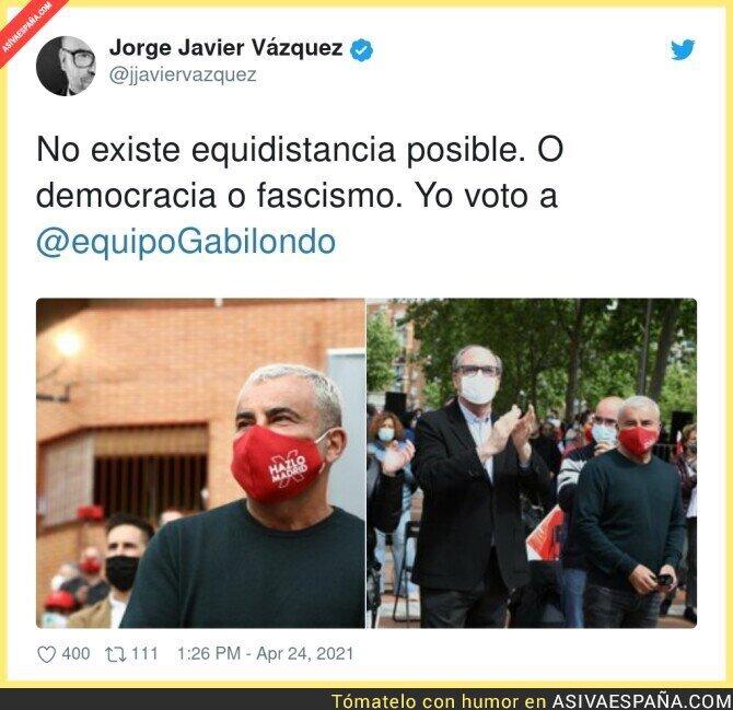 718539 - Jorge Javier Vázquez lo tiene claro para las elecciones de Madrid
