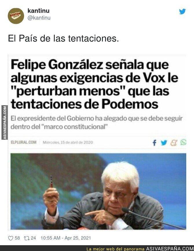 720614 - Felipe González ni se esconde hace tiempo