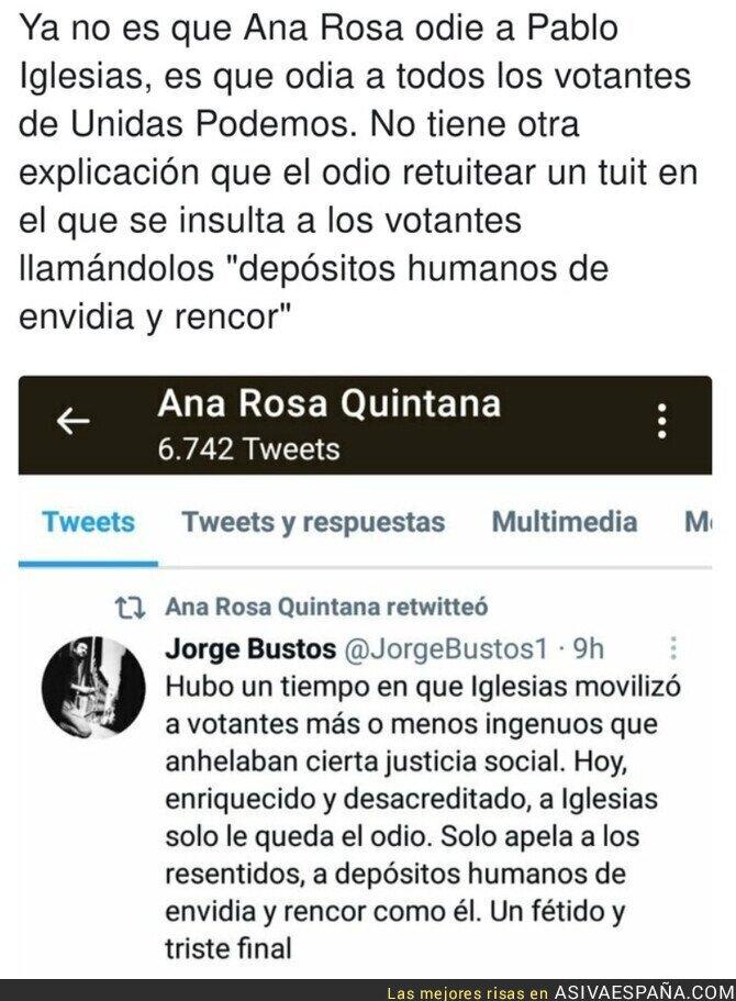 724209 - El odio de Ana Rosa Quintana a los votantes de Unidas Podemos