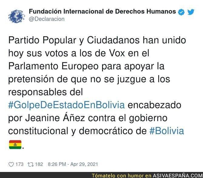 730362 - La derecha española se junta para no juzgar el golpe de estado en Bolivia