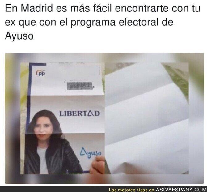 730596 - El programa electoral de Isabel Díaz Ayuso está vacío