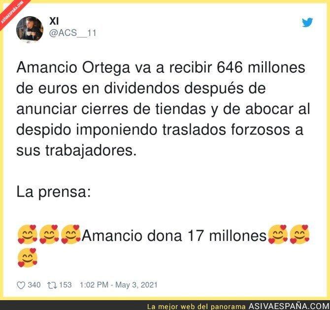736969 - Un nuevo lavado para Amancio Ortega