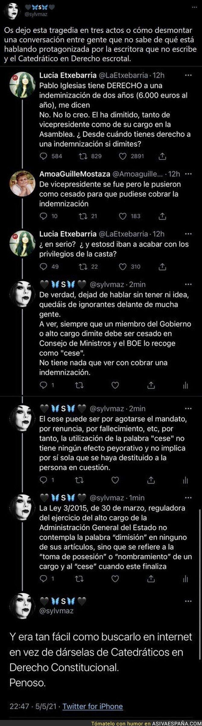 742937 - Así corren los bulos de Pablo Iglesias sin tener ni idea de nada