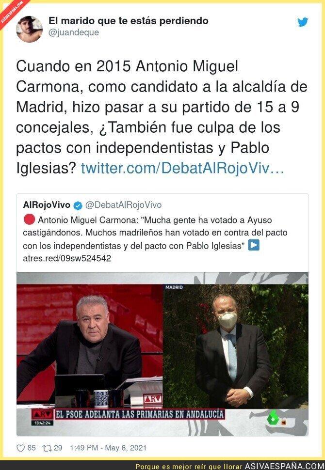 743689 - Antonio Miguel Carmona y su autocrítica