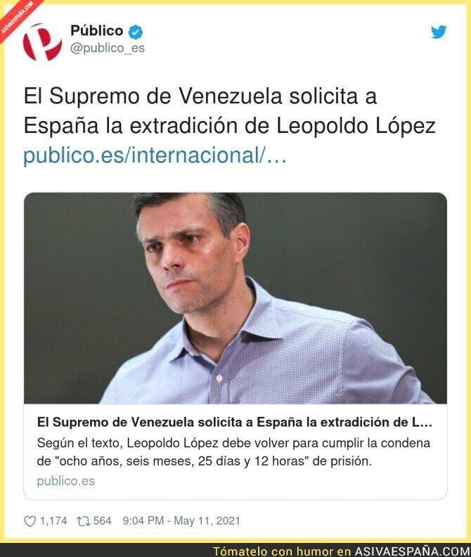 754032 - El peligroso Leopoldo López que anda libre por España reclamado por Venezuela