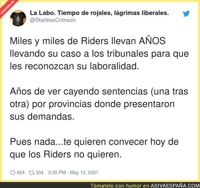 754547 - Quieren hacer creer que a los riders les gusta ser esclavos