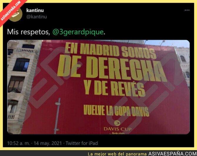 757085 - Gerard Piqué se la saca en pleno centro de Madrid para promocionar la Davis Cup