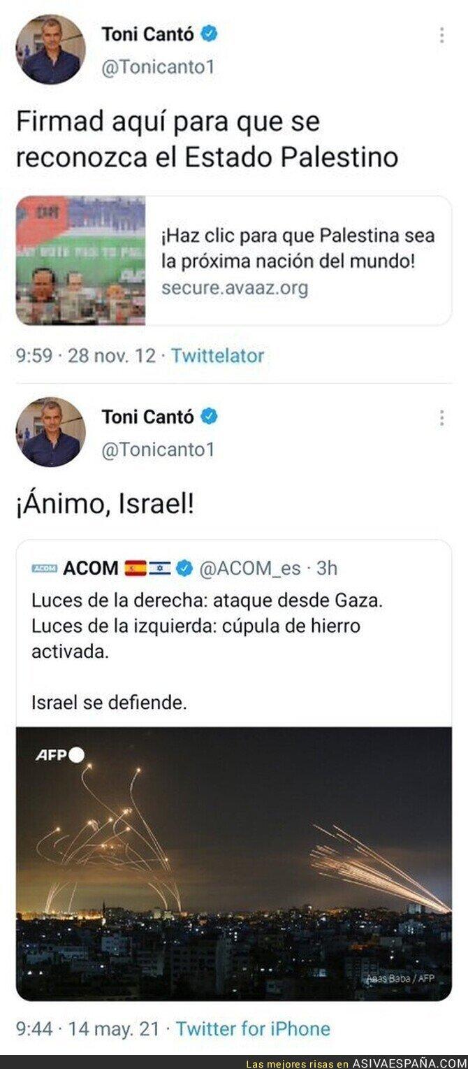 757526 - El miserable tuit de Toni Cantó sobre Israel que le retrata por completo por como pensaba en el pasado con este otro mensaje que publicó