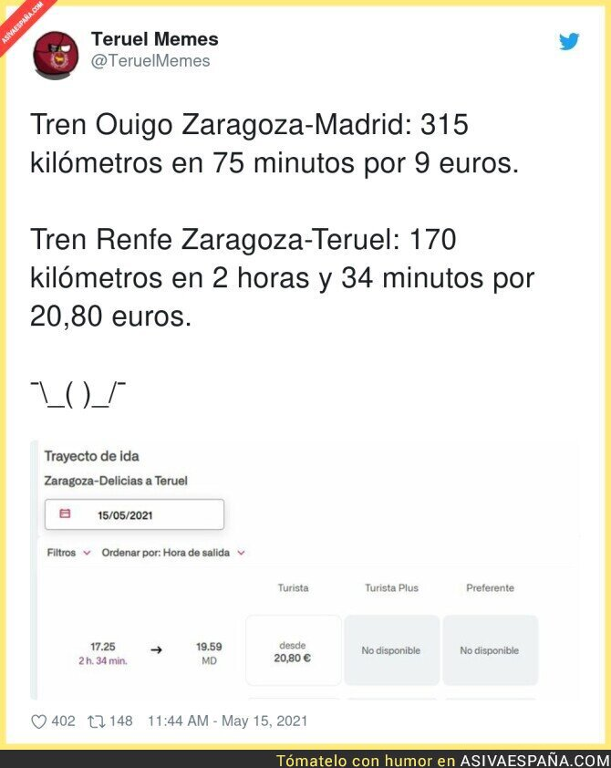 759999 - Diferencias de precios entre Renfe y Ouigo