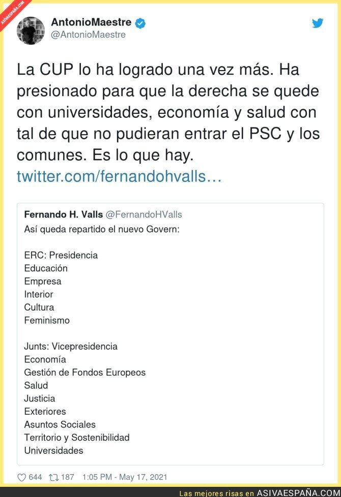 762616 - La CUP siempre termina ayudando a la derecha catalana