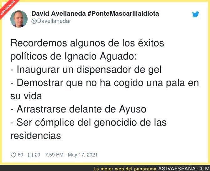 763281 - Menudo historial se le ha quedado a Ignacio Aguado como político