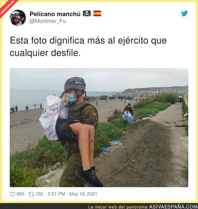 764541 - Desoladoras imágenes que nos deja la invasión en Ceuta