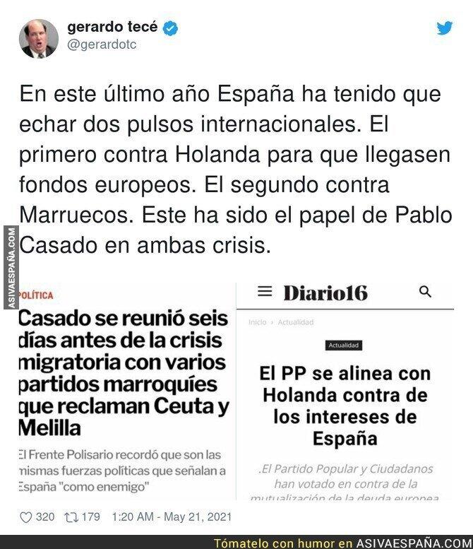 769096 - Pablo Casado no deja de torpedear a España