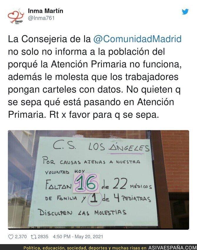 770053 - A la Comunidad de Madrid no le gusta que a la población se le informe