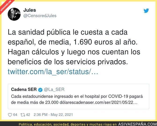 770778 - ¡Viva España y su sanidad pública!