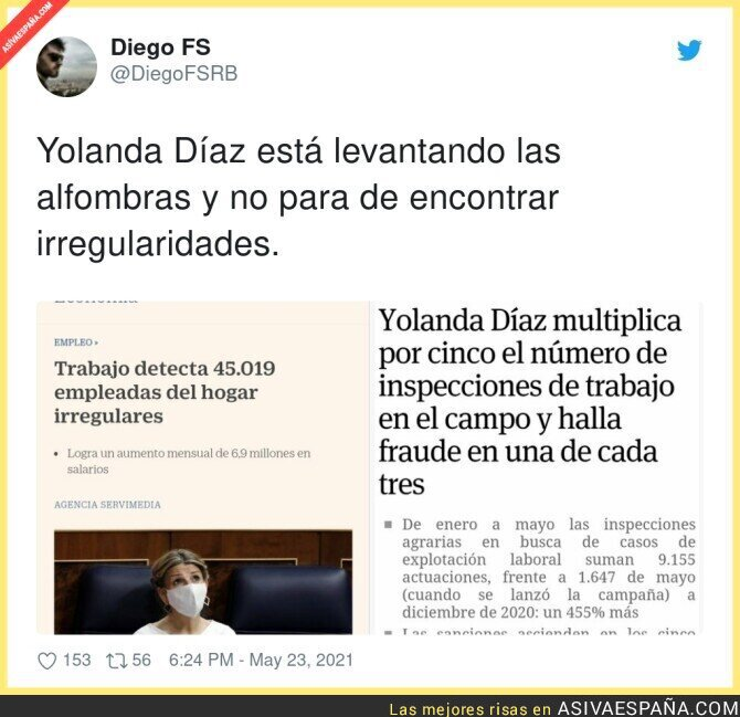 772469 - El excelente trabajo de Yolanda Díaz que está dejando retratado a mucho explotador