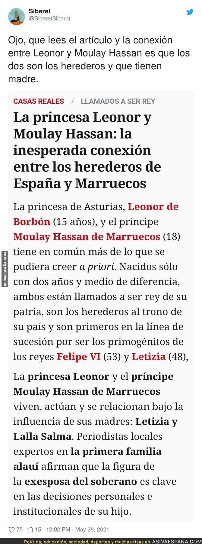778818 - La tremenda conexión que hay entre la princesa Leonor y Moulay Hassan según este diario