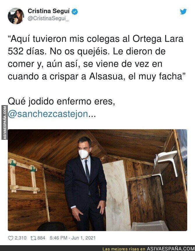 784199 - Cristina Seguí se inventa unas declaraciones de Pedro Sánchez visitando el zulo de Ortega Lara y sus seguidores se la terminan creyendo