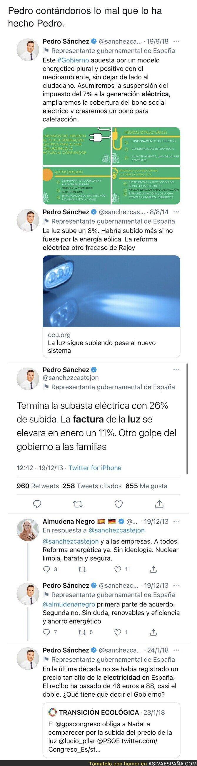 786637 - Todos estos tuits del pasado de Pedro Sánchez le dejan totalmente mal con la situación que está pasando en 2021