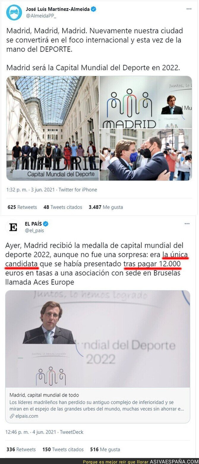 787041 - La realidad que se esconde tras la noticia anunciada por José Luis Martínez Almeida