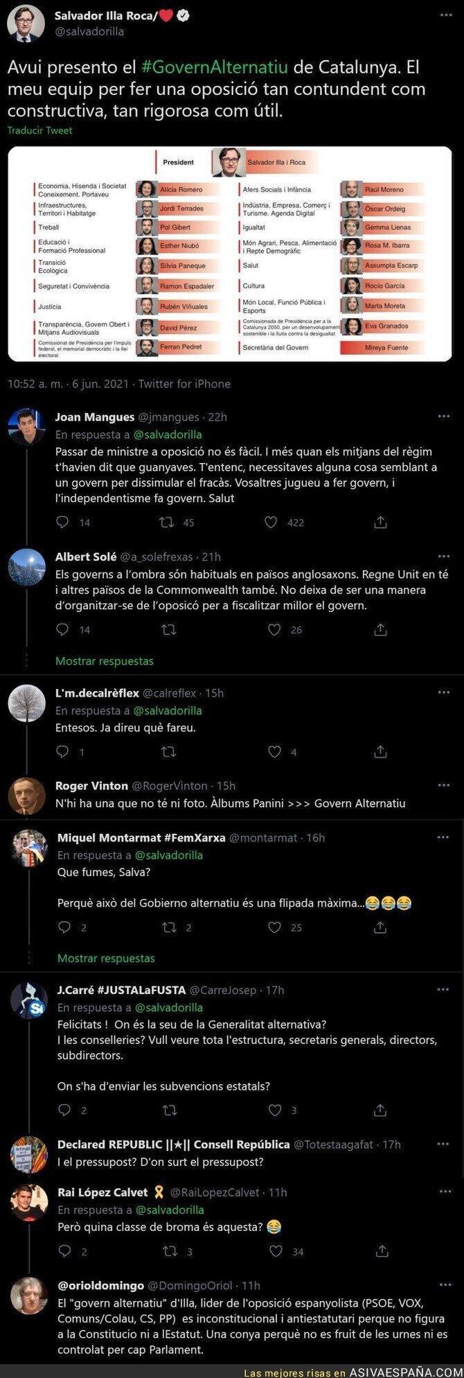 789649 - El ridículo monumental de Salvador Illa presentando un Govern alternativo para Catalunya