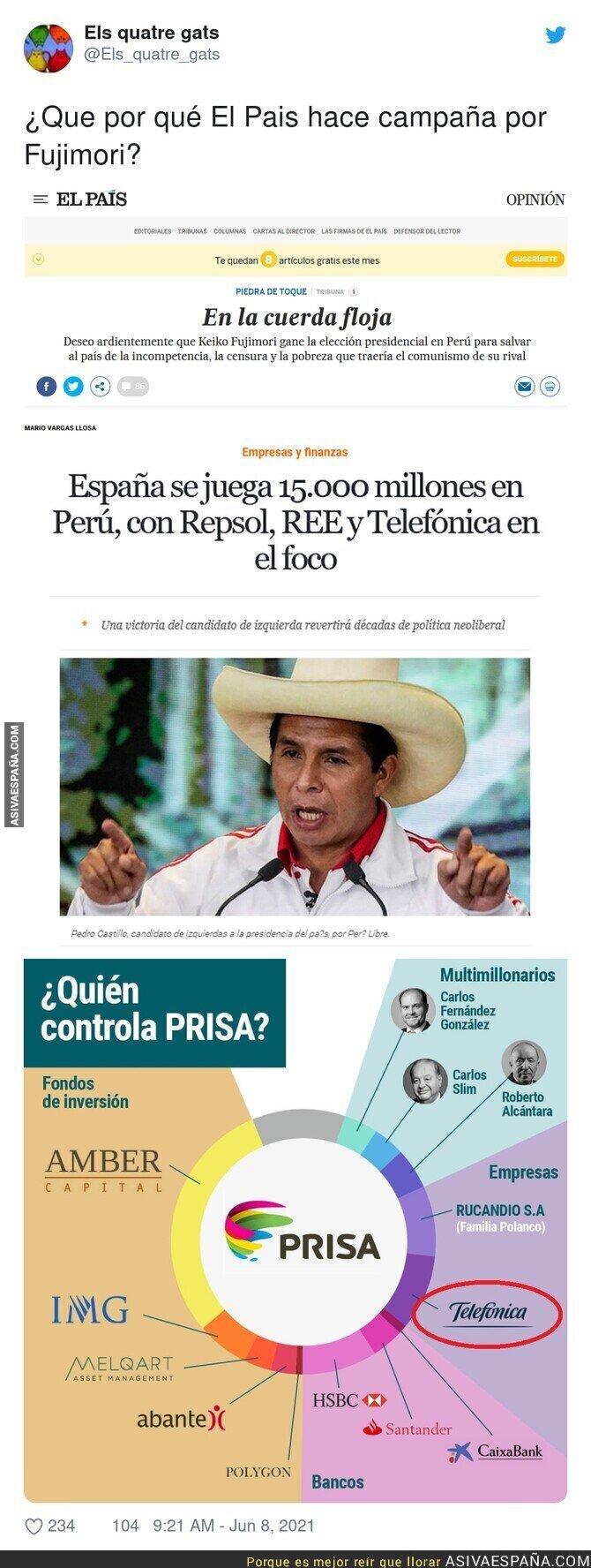 790977 - 'El País' y sus preferencias en Perú