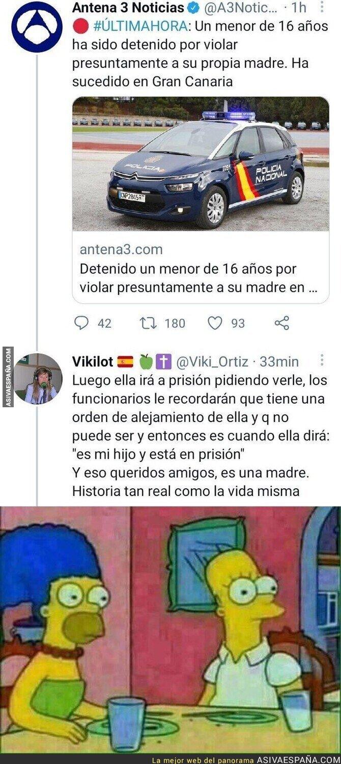 801851 - La surrealista respuesta que ha recibido Antena 3 ante la noticia de que un menor de 16 aaños ha sido detenido por violar a su madre